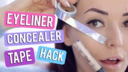 Beste concealer eyeliner tape hack EVER!